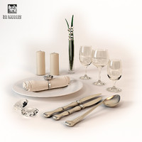 silverware 3d max