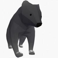Bear Mishka Low Poly
