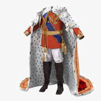 royal king costume 2 3d model