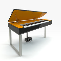 yamaha digital piano 3d obj