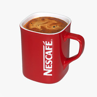 3ds max cup nescafe