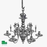 3d antique chandelier