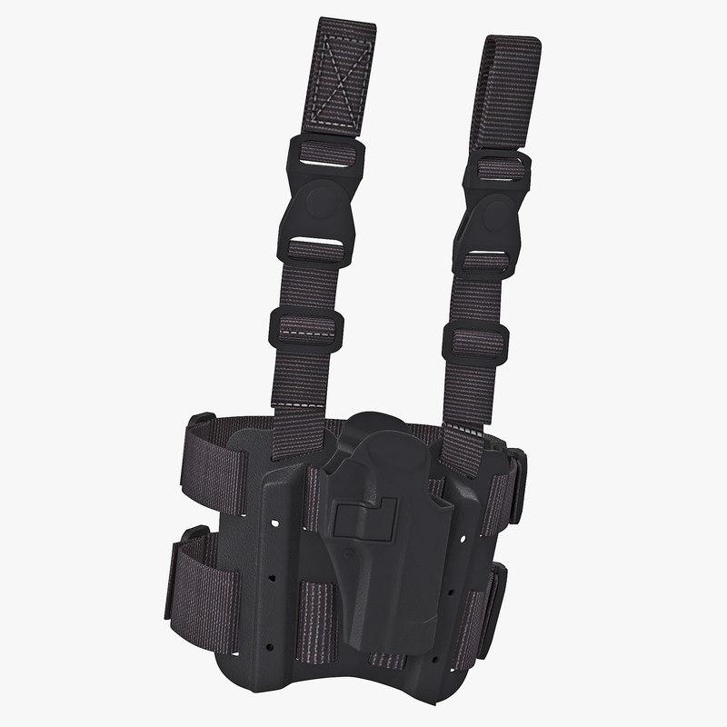 Tactical Leg Pistol Holster 3d model 00.jpg