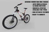 generic mountain bike rigged 3d max