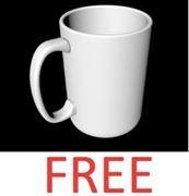 free mug cup 3d model