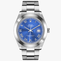 3d model rolex datejust ii white