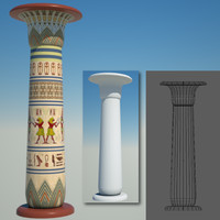 3d egyptian column egypt