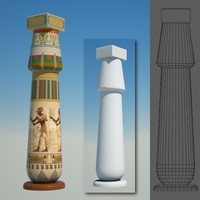 3d c4d egyptian column egypt