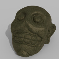 mayan face sculpture 3ds