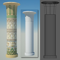 3ds max egyptian column egypt
