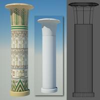 3ds max egyptian column egypt
