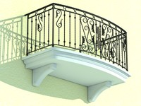architectural balcony dxf
