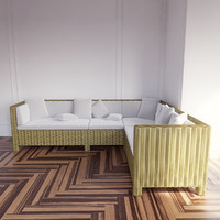 3d taglio verde outdoor sofa model