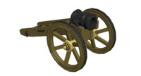 mortar cannon 3d max