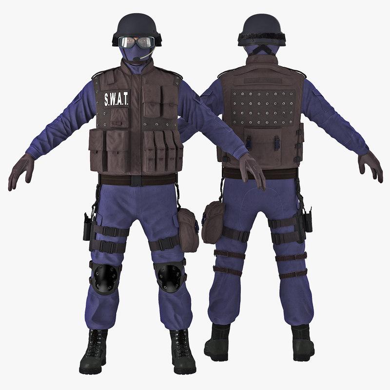 SWAT Policeman 3d model 00.jpg