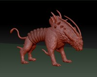 3ds max monster dog