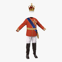 royal king costume 3 3d max