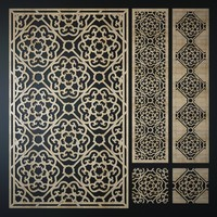3d model of decorative laser cutting pattern