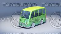 cartoon toy car 3d max
