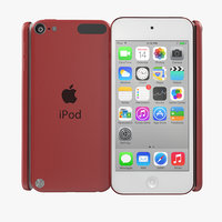 3d model ipod touch red