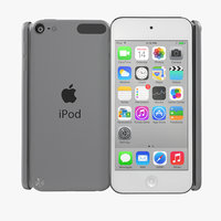 3d ipod touch silver model