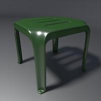 stool 2 3d blend