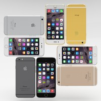 pack iphone 6 phones 3d obj