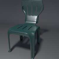 3d model realistic chair 1