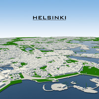 3ds max helsinki cityscape