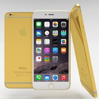 3d model apple iphone 6 gold