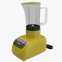 blender yellow 3d model