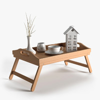 Wooden Breakfast Bed Tray