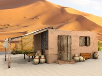 3d model old egyptian house