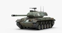 3d m41 walker bulldog tank track