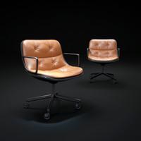 maya vintage-knoll-pollock-executive-armchair
