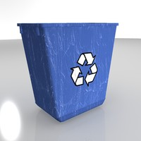 3d model container basket waste 02