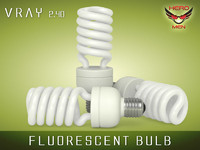 fluorescent bulb light 3d model