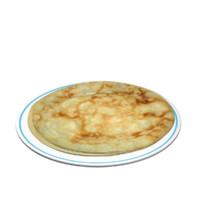 pancake 3d model
