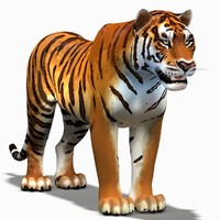3d cartoon tiger