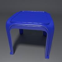 3d model stool simple