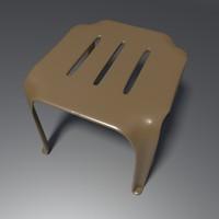3d model stool 1