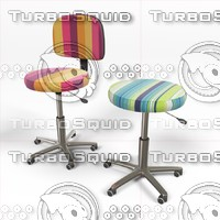 3d model chairs stools