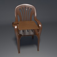realistic chair 2 3d model