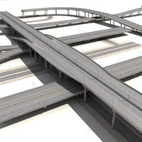 3d model collections streets highway constructions
