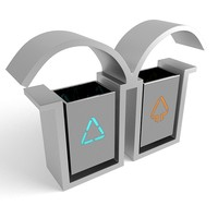 3ds max trash cans