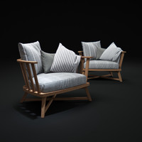 gray-armchair-by-gervasoni 3d max