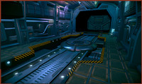 3d model spaceship warehouse interiors
