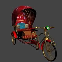 3dsmax chinese rickshaw