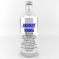 absolut vodka bottle 3ds