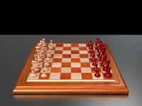 3d model staunton chess set